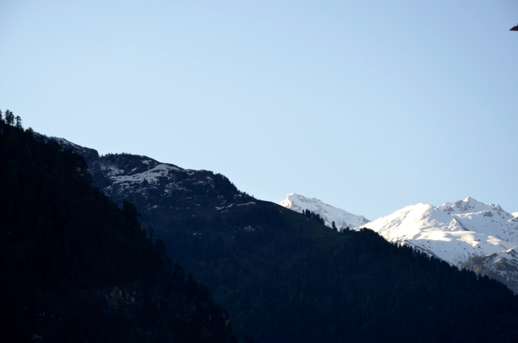 View of Glaciers from Hotel Glacier and from my room...
