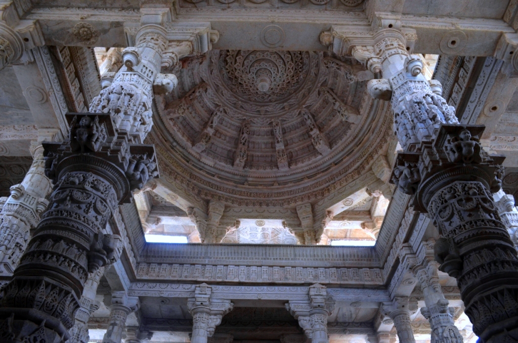 Some of pillars of Ranakpur Temple