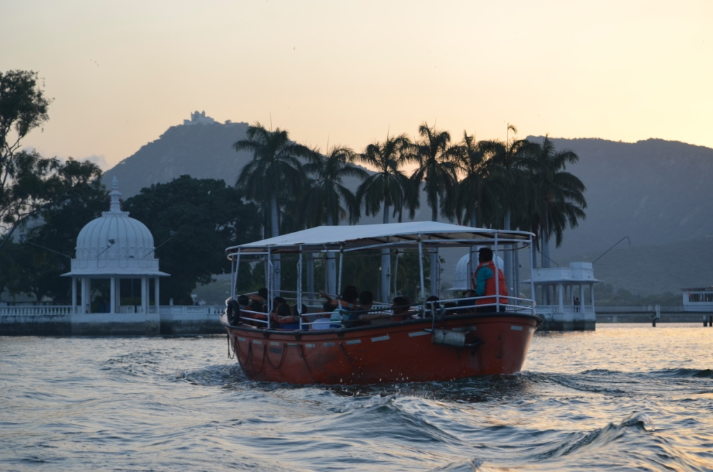 Boat ride at fateh Sagar Lake