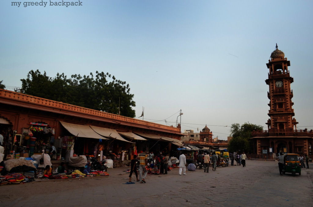 Old Haat Bazaar surrounding clock tower